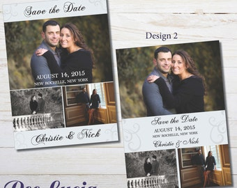 Printed Photo Save the Date Cards. Printed 5x7 card with envelopes.