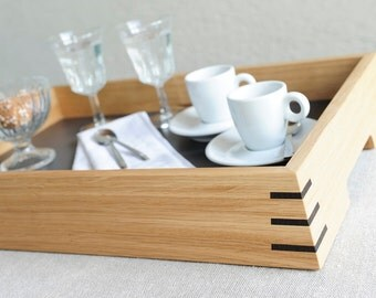 Oak wood tray