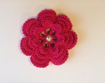Crochet Brooch ~ Pink