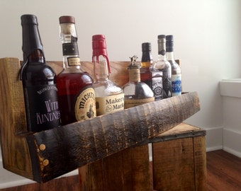 Bourbon/Whiskey Barrel Stave Shelf