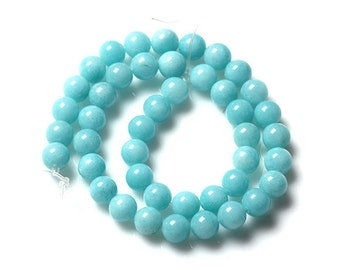 "15"" 10mm/8mm/6mm Round Amazonite Beads Dayed Semiprecious Gemstone Loose Beads"
