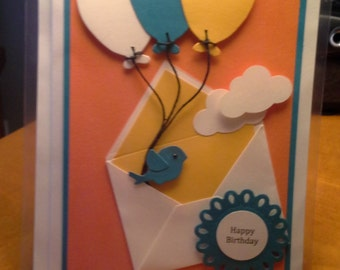 Special delivery balloons handmade card