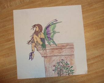 Original Fairy Watercolor Print