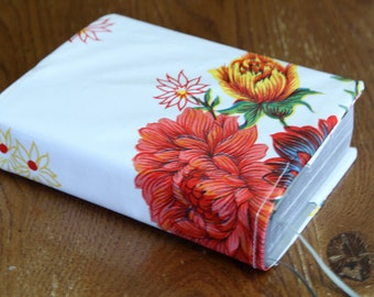 Oilcloth Bible Cover For NWT (New World Translation) // White With Flowers // Bible Journaling // Oilcloth Bible Cover // Custom Orders-Yes