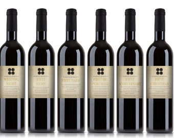 Customized Kit of First's Wine Labels.