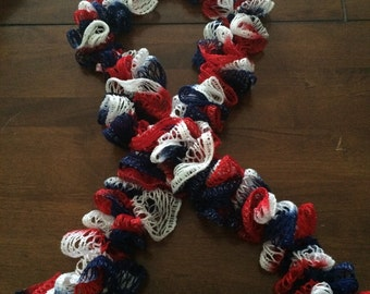 Red, White and Blue Fashion Scarf