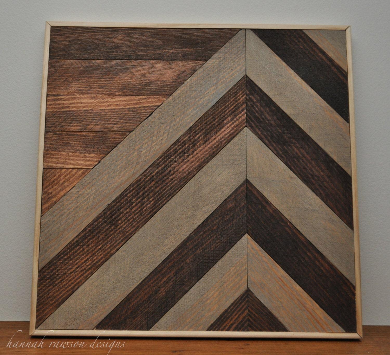 Rustic boho chevron wood wall art 12 x 12 by for Rustic wood wall art