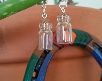 Little jar earrings