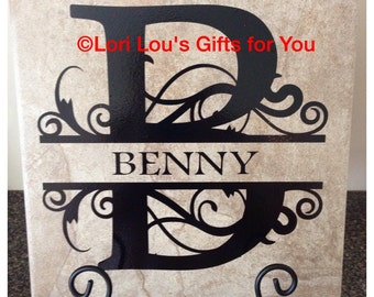 Personalized Name Tile Sign 12x12