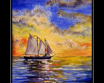 Gand Union Sailing Out of Key West ( Original Art Work)