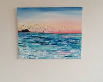 Sunrise at the Pier Painting