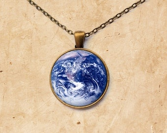 Astronomy necklace Earth pendant Planet jewelry
