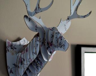 Trophy head of Hart wood (Wooden Deer Head Trophy)