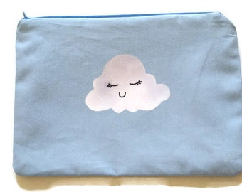 Blue Happy Cloud Make up Bag *sale*