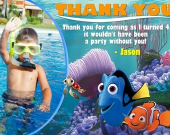 Finding Nemo Thank you Card Birthday Party