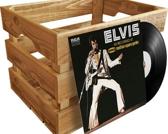 Vinyl Record Apple Crate | Vintage Style Display