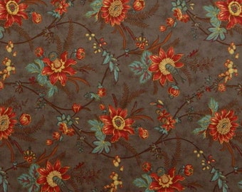 Moda Fabric ~ Seneca Falls by Brackman and Thompson ~  Lavender Floral Fabric