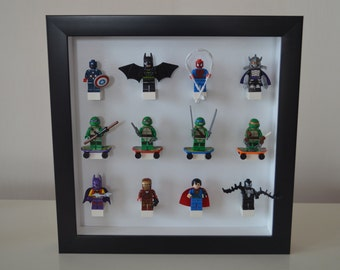 Small play and display board (holds 12 minifigs) 30.5cm x 30.5cm - no minifigs included