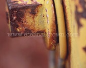 Abstract Photography - rustic yellow fire hydrant