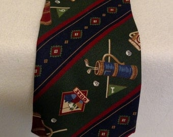 Mens Golf  Neck tie By Beans McGee
