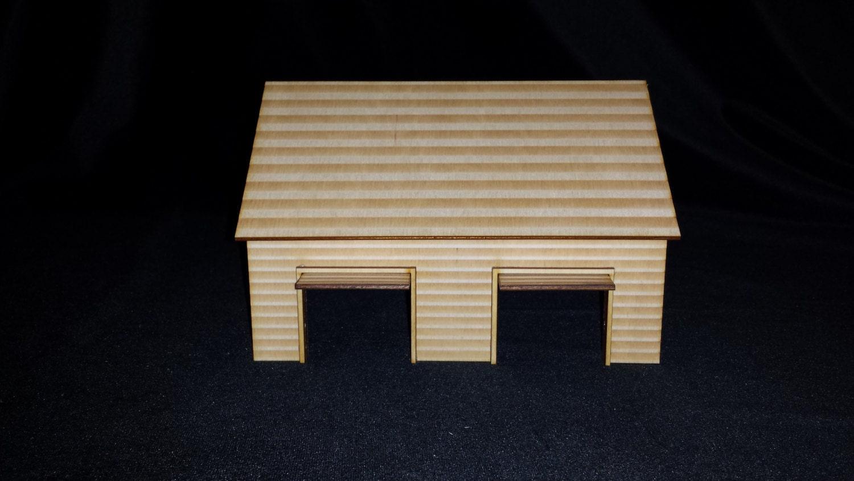 O scale 2 car garage kit model railroad train by for 1 1 2 car garage kits