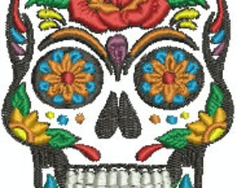 Sugar Skull Embroidery Design