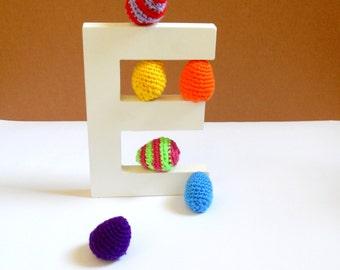 Half a dozen (6) Crochet Easter Eggs (small). Easter 2017