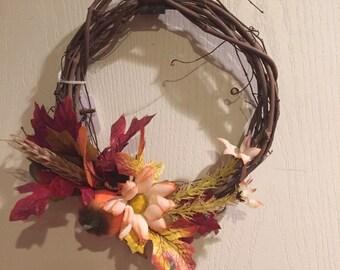 Mini Handmade Artficial Fall Wreath
