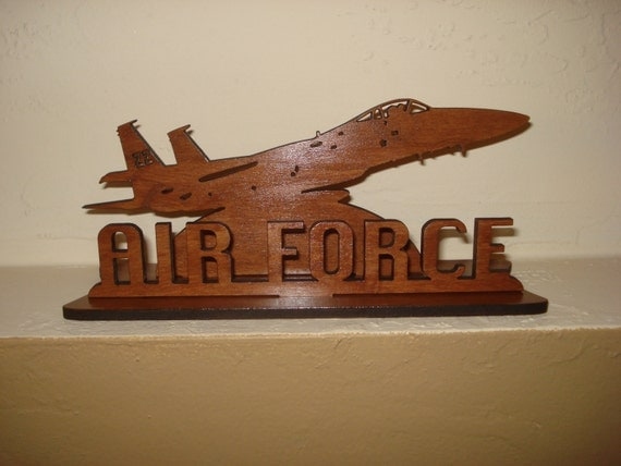 Air force wooden 3d decorative emblem fighter jet office desk for Decor 6 air force