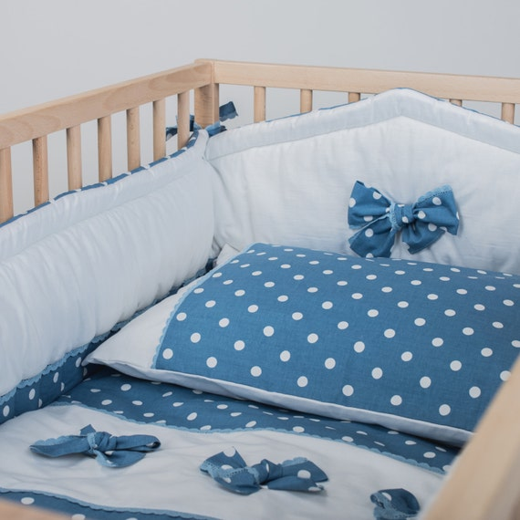 Crib Bedding Boy Baby Bedding Sets Blue Mist By Cotandcot