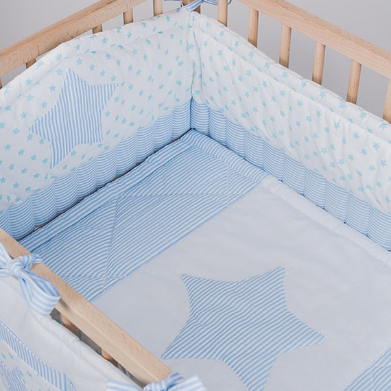Items Similar To Crib Bedding Baby Bed Sets Boy Blue