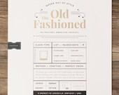 Old Fashioned 18X24 Metallic Screenprint Poster
