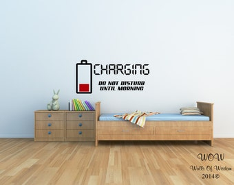 Charging - Do Not Disturb Sticker Funny Children Adult Teenager Wall Art Stickers And Decals