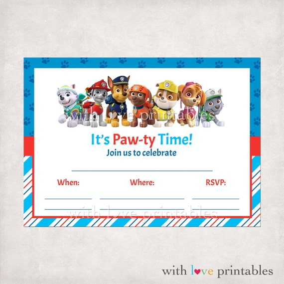 paw patrol invitation template free - printable paw patrol fill in blank birthday by