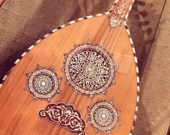 Photo Art Canvas Ud Lute Guitar with inlay