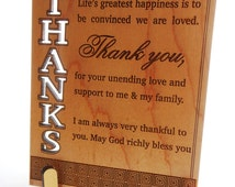 Thanks Giving Card ,Thank You So Much Wooden Card, Custom / Personalized Wooden cards, Seasons Greeting Cards,Wooden Cards for All Occasions