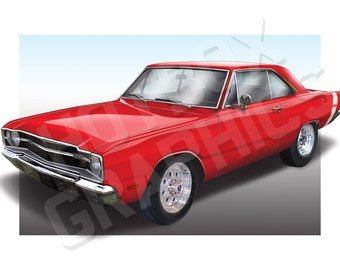 Personalised Illustration of Your Dodge Dart