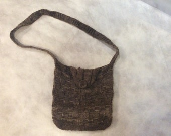 Over the shoulder wool handbag purse