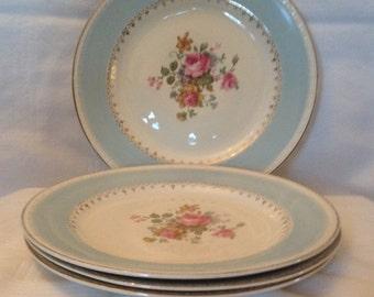 Homer Laughlin Dessert Plates,  Set of 4