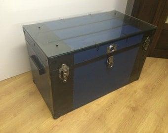 1940 Metal trunk Coffee Table