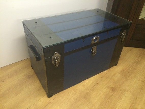1940 Metal Trunk Coffee Table