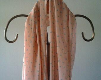 Peach Polka Dot scarf