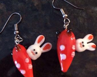 Bunny Treat Charm Earrings