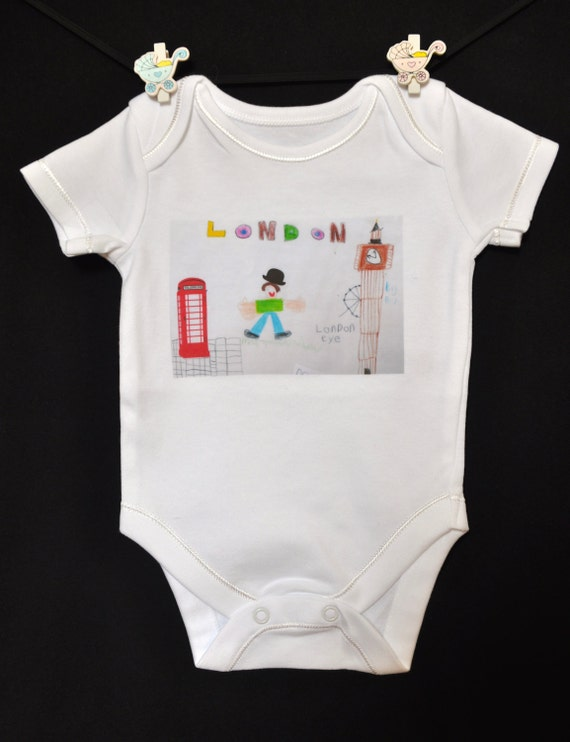 Novelty Baby Gifts Uk : Kid s london drawing funny baby grow vest gift uk seller