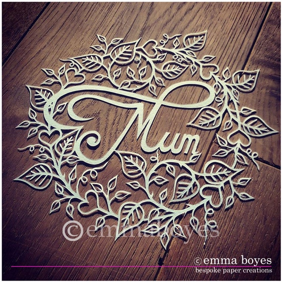 Mothers Day Storewide Sale Template: Mum Papercut Template. Mother's Day Papercut DIY