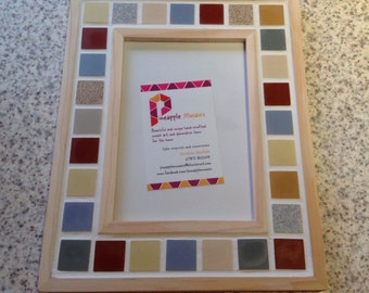 Colourful Mosaic Photo Picture Frame - 6x4""