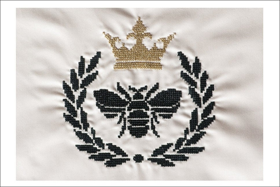 Bee Amp Crown Cross Stitch Pattern Instant Download