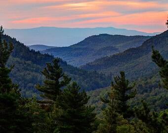 Adirondack Mountains, Landscape Print, Landscape Photograph, Sunrise Print, Keene Valley, Sunrise Photo, Adirondack Dawn, Adirondack Decor
