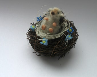 hedgehogs miniature needle felting.