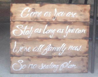 Custom sign made out of pallet wood